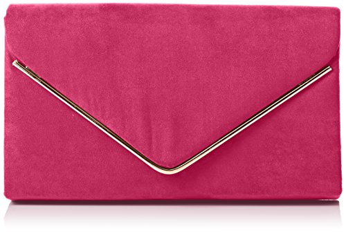 Oscar Fuschia Pink Party Clutch Bag Womens Clutch SwankySwans Envelope Prom Velvet Suede Opw5q