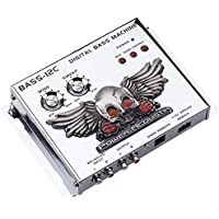 Power Acoustik BASS-12 Digital Bass Machine with Chrome Finish and Subsonic Filter