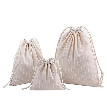 LAAT 3pcs Bolsas de cuerdas Golsas Mochilas Cuerdas,Unisex Algodón y lino Gymsac Bolsa Natación PE Mochila para Adultos y niños: Amazon.es: Hogar