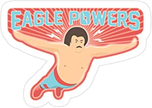 jackkenli (3 PCs/Pack) Nacho Libre Eagle Powers 3x4 Inch Die-Cut Stickers Decals for Laptop Window Car Bumper Helmet Water Bottle