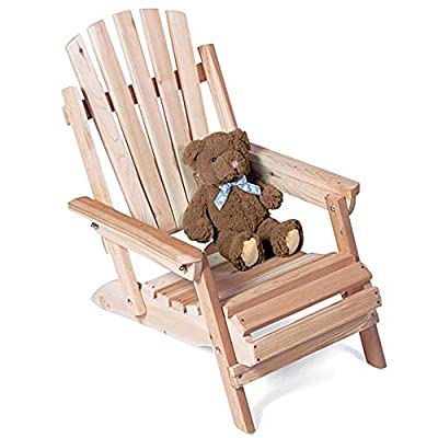 Rustic Natural Cedar Furniture Junior Folding Adirondack Chair