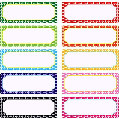 50 Pieces Magnetic Name Plates Dry Erase Labels White Board Nameplates Name Tags Stickers for School Home Office and Classrooms, 3 x 1.2 Inch, 10 - Plate Label
