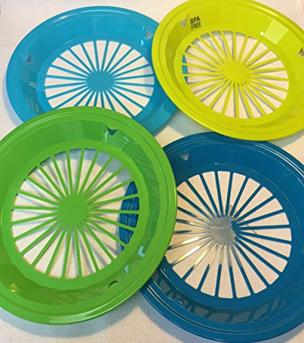 16-paper-plastic-reusable-plate-holders-105-round-bues-and-greens-4-colors-no-bpa-plastic-picnics-pa