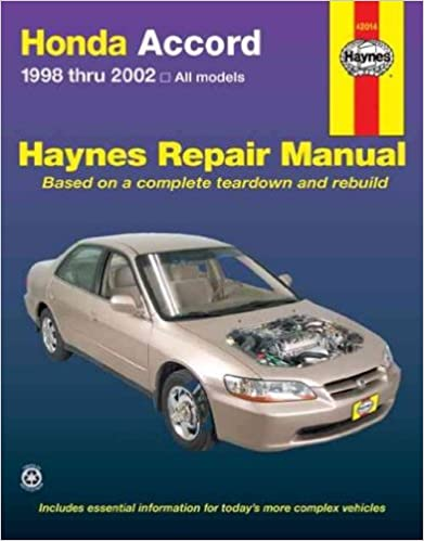 Honda Accord 1998-2002 (Haynes Repair Manuals) 1st Edition by Haynes  PDF Download
