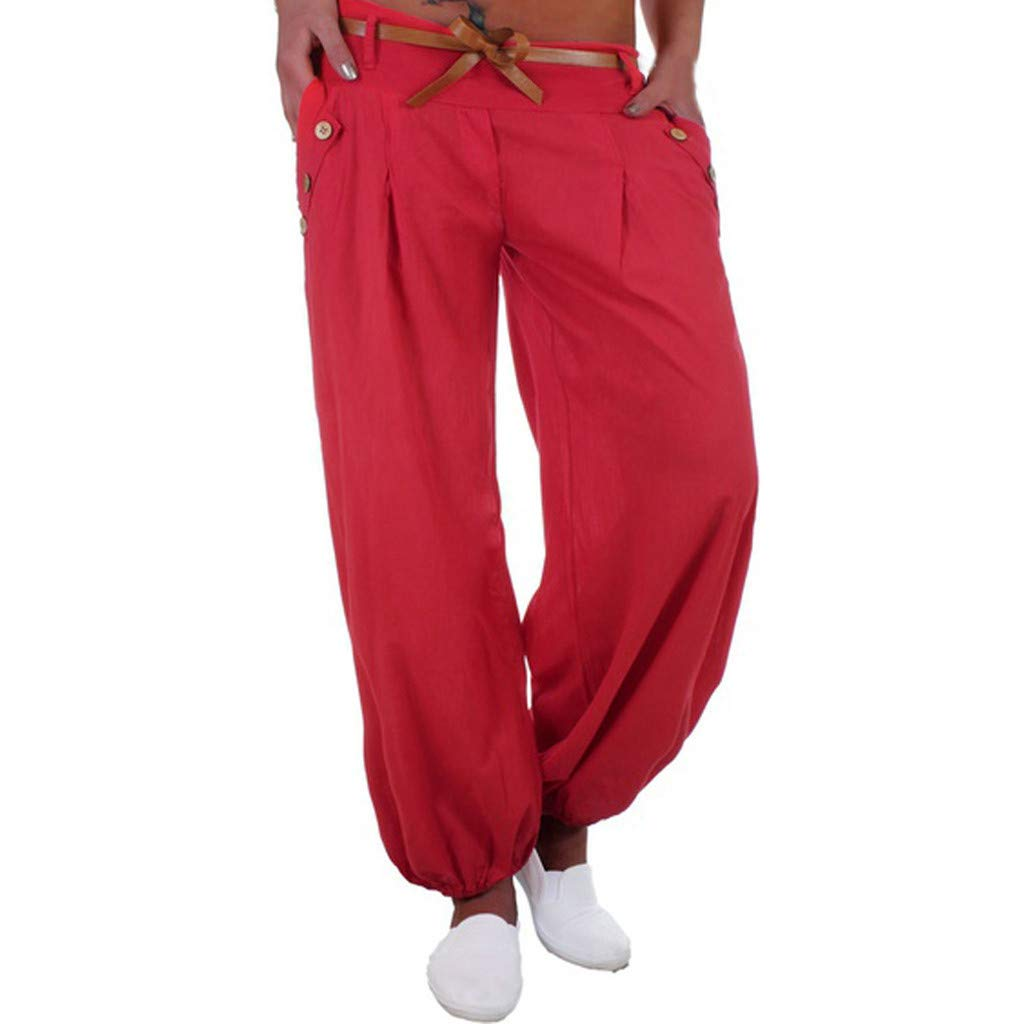 ZOMUSAR 2019 ❀ Women Long Pants Casual Style High Waist Casual Style Sports Yoga Trouser Pants