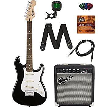 squier by fender short scale stratocaster pack with frontman 10g amp cable strap. Black Bedroom Furniture Sets. Home Design Ideas