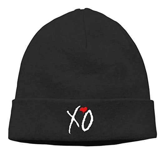 Mens XO The Weeknd Heart Weekend Beanie Hat Winter Warm Skull Cap at ... f05515e5334c