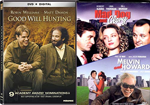 Seriously Funny Dromedies 3-Movie Collection - Good Will Hunting (DVD and Digital), Mad Dog and Glory & Melvin and Howard 3-Movie Bundle