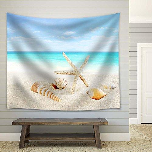 Starfish and Seashells on Tropical Beach