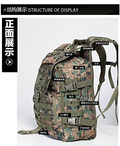 XMY Outdoor Sport Military Tactical Rucksacks Backpack Rucksack Camping Hiking Trekking Bag SandCamouflage COLOR NEW