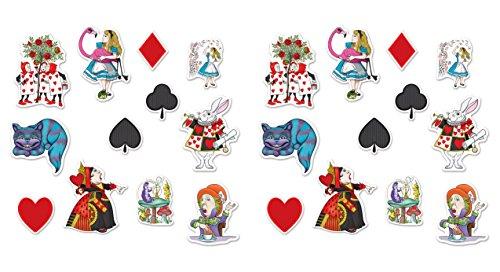 Beistle 54781, 24 Piece Alice in Wonderland Cutouts, 6