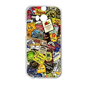 HTC One M8 Cell Phone Case White Beer Labels BNY_6783302