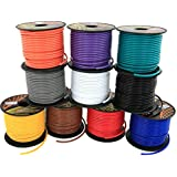 16 GA Primary Wire 10 Roll Color Combo Pack   100 ft per Color (1000' total) CCA Cable for Automotive Trailer Harness Car Speaker Amplifier Wiring (Other Choice this Product Family: 4 & 6 Color Set)