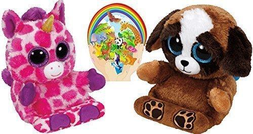 Ty Beanie Peek-a-Boos UNI Unicorn and PUPS Dog Set of 2 Smar