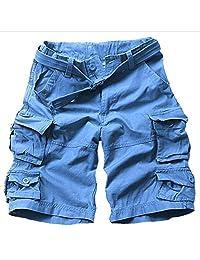 ZXHHL Camouflage Shorts Tooling Shorts Multi-Pocket