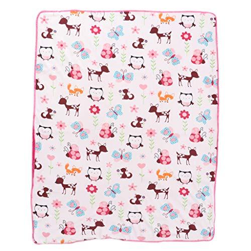 Fityle Newborn Baby Soft Fleece Blanket Gift Boy Girls Cot Crib Blanket Comforter - Butterfly Fawn, as described