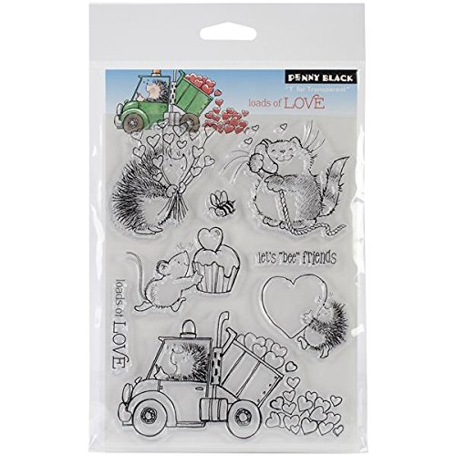 Love Mounted Rubber Stamp - Penny Black 30-146 Clear Stamp, Loads of Love