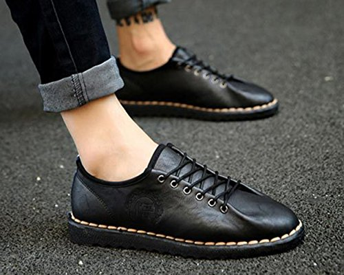 Insun Men's Casual Faux Leather Loafers Dress Shoes Black vlBrh5U