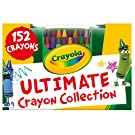 Crayola Ultimate Crayon Collection Coloring Set, Kids Indoor Activities At Home, Gift Age 3 plus - 152 Count Blue, Yellow