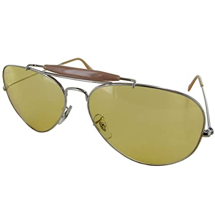 846788cca ... discount code for ray ban mens outdoorsman ii rb3029 aviator sunglasses  silver amber a5f20 4b2b8