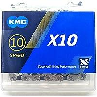 KMC X10 X10.93 - Cadena de bicicleta (116 eslabones, 10 velocidades), color negro