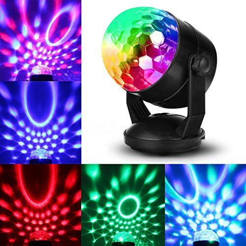 JUDYelc Disco Lights-Crystal Ball Stage Light with Rotating RGBW LED Party Light Show for Wedding Shows Dance Floor Night Club DJ Flashing (Ver. (100 Floors Halloween Special Floor 5)