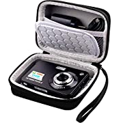 Carrying & Protective Case for Digital Camera, AbergBest 21 Mega Pixels 2.7″ LCD Rechargeable HD/ Kodak Pixpro/ Canon PowerShot ELPH 180/190 / Sony DSCW800 / DSCW830 Cameras for Travel – Black