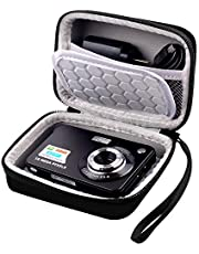 """Carrying & Protective Case for Digital Camera, AbergBest 21 Mega Pixels 2.7"""" LCD Rechargeable HD/ Kodak Pixpro/ Canon PowerShot ELPH 180/190 / Sony DSCW800 / DSCW830 Cameras for Travel - Black"""