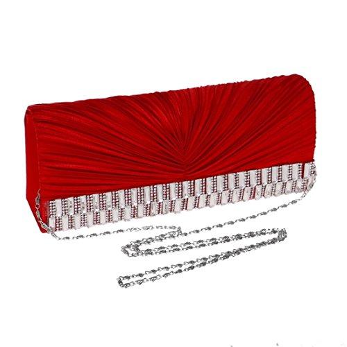 De Embrague Seda Hemotrade Las Crossbody Red Noche Aprikosen Bolso Del Hombro Señoras color Vestido 8qq6wT5