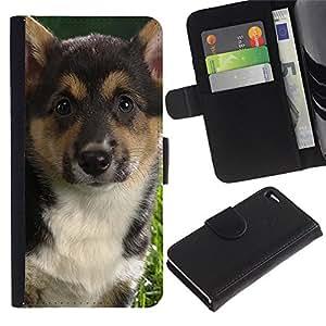 All Phone Most Case / Oferta Especial Cáscara Funda de cuero Monedero Cubierta de proteccion Caso / Wallet Case for Apple Iphone 4 / 4S // German Shepherd Corgi Fox Terrier Dog