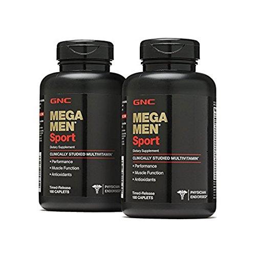 GNC Mega Men Sport 180 Caplets 2 Pack