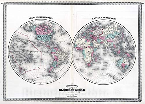Johnson's Globular World. | Vintage Wall Art | 62in x 44in ()