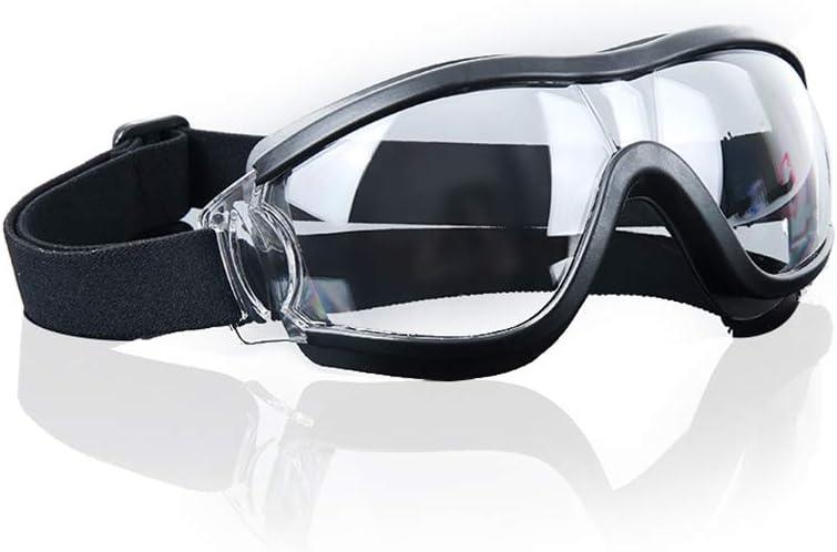 TOMYEER - Gafas de seguridad profesionales, antiarañazos, protección UV, color negro