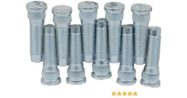 """5//8/"""" Fine Thread  Wheel Stud Kit /& Double Sided Lug Nut combo 3//8/"""" Knurl 2 3//4/"""""""