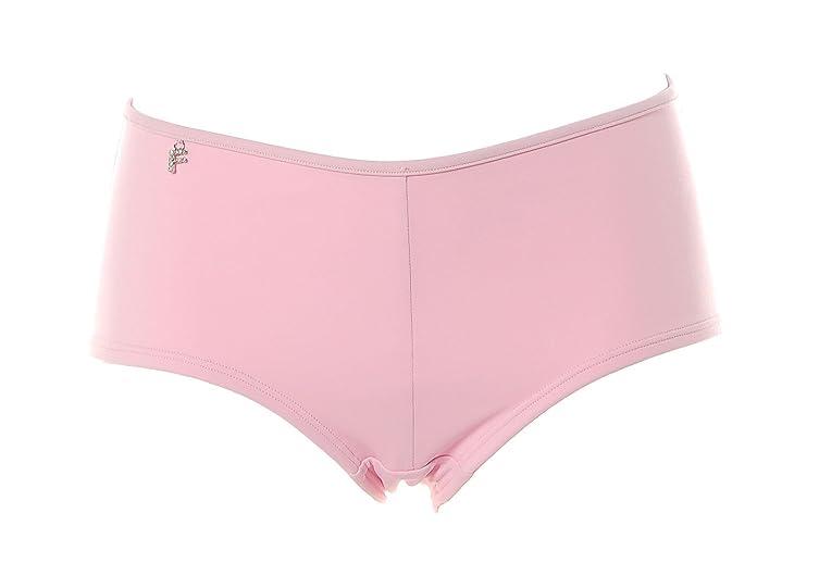 Femilet Damen Bikinihose Badehose Slip Panty Strass Glitzer Rose 40