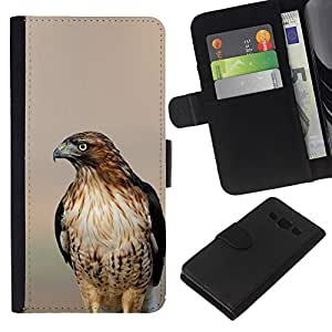Supergiant (Hawk Blurry Sunset Nature Summer Bird) Dibujo PU billetera de cuero Funda Case Caso de la piel de la bolsa protectora Para Samsung Galaxy A3 / SM-A300