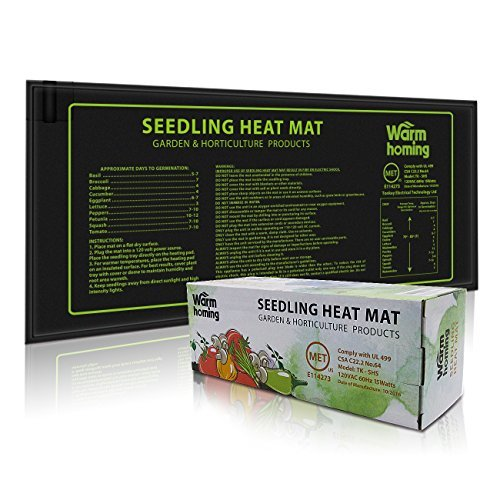 - Seedling Heat Mat, Warmhoming Seed Propagating Heat Mat for Seedling, Durable Waterproof Warm Hydroponic Heating Pads (18.5