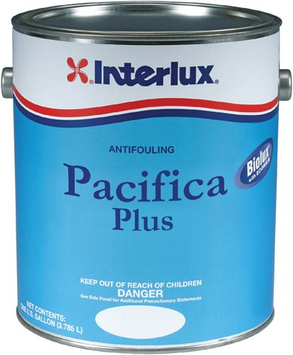 (Interlux YBB263/1 Pacifica Plus Antifouling Paint - Black, Gallon, 128. Fluid_Ounces )