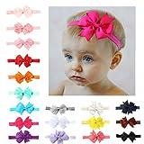 20 Pack Baby Girls Toddler Bow Headbands Turban Knot Rabbit Hairband Headwear (20 pack)