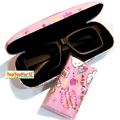 7cd87cd20 Authentic Hello Kitty Eyeglass Hard Case with Cleaning Cloth - Import It All