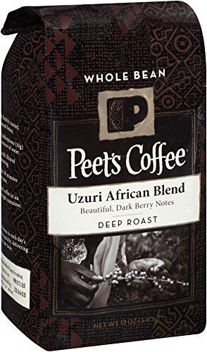 Peet's Whole Bean Coffee, Uzuri African Blend, 12-Ounce