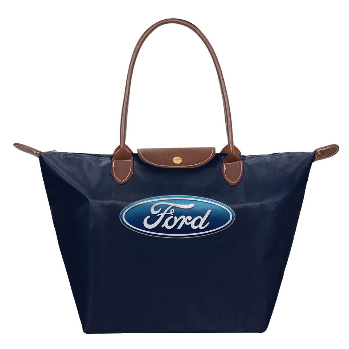 Ford Logo Waterproof Leather Folded Messenger Nylon Bag Travel Tote Hopping Folding School Handbags