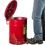 Justrite 9300 10 Gallon Red Galvanized Steel Oily