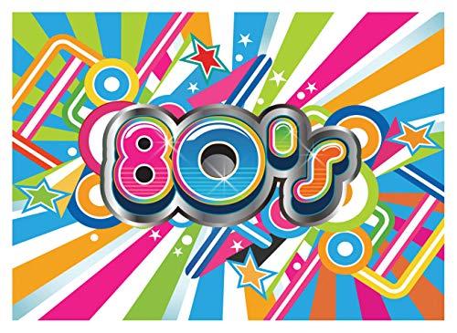 WOLADA 7x5ft Hip Pop 80's Photo Backdrop 80's Graffiti Photography Backdrop Vinyl 80's Theme Party Decoration for Studio Backdrop 11416 ()