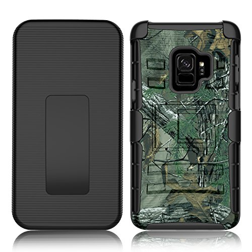 Galaxy S9 Case, Venoro Heavy Duty Shockproof Armor Holster Defender Full Body Rugged Protective Case Cover with Kickstand and Belt Swivel Clip for Samsung Galaxy S9 / SM-G960U / SM-G960F