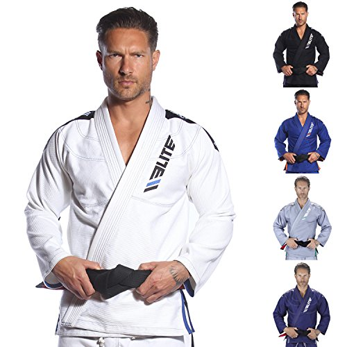 Elite Sports Ultra Light BJJ Jiu Jitsu Gi (White - A2)
