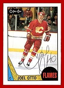 1987-88 O-Pee-Chee #212 Joel Otto in-person AUTOGRAPH Calgary Flames (nrmt card condition, nice auto)