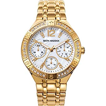 Image Unavailable. Image not available for. Color: RELOJ MARK MADDOX MM6008-25 MUJER MULTIFUNCION
