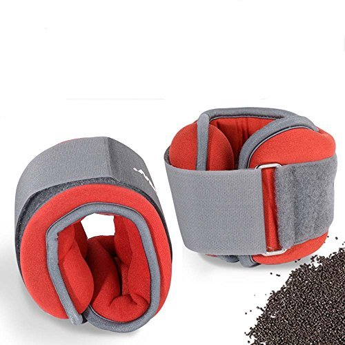YNXing Ankle Weights Running Wrist Ankle Adjustable Size 2 1kg for Fitness Basketball Running and Other Sports by YNXing