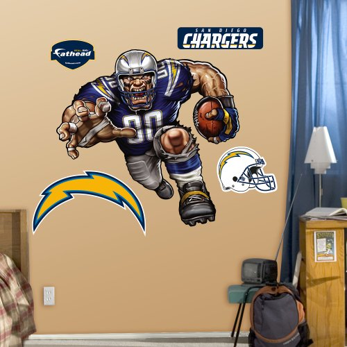 NFL San Diego Chargers Bolting Charger Wall Graphics (Diego Chargers San Wallpaper)
